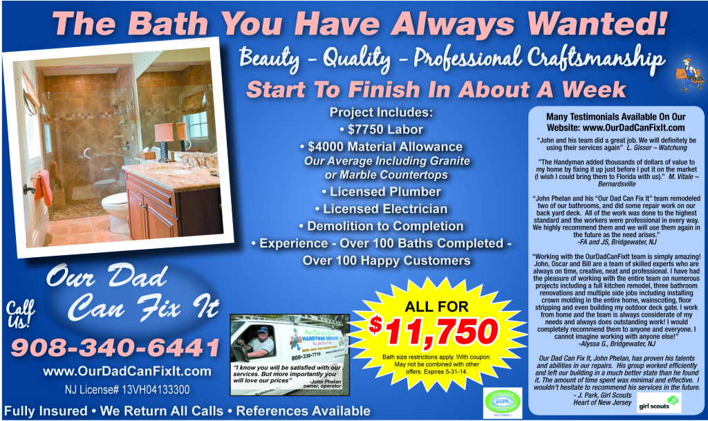 ourdadcanfixit may specials bathroom1 1024x609 Monthly Specials