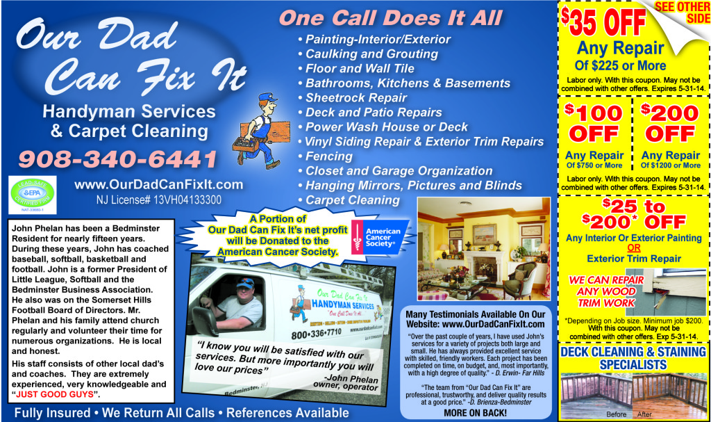 ourdadcanfixit may specials coupons 1024x607 Monthly Specials