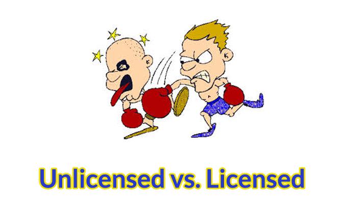 licensedvsunlicensed Unlicensed vs Licensed